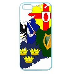 Flag Map Of Provinces Of Ireland  Apple Seamless Iphone 5 Case (color) by abbeyz71