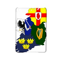 Flag Map Of Provinces Of Ireland  Ipad Mini 2 Hardshell Cases by abbeyz71