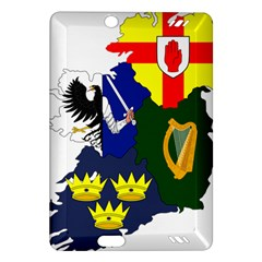 Flag Map Of Provinces Of Ireland  Amazon Kindle Fire Hd (2013) Hardshell Case by abbeyz71