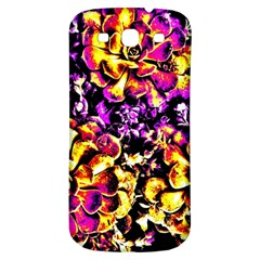 Purple Yellow Flower Plant Samsung Galaxy S3 S Iii Classic Hardshell Back Case by Costasonlineshop