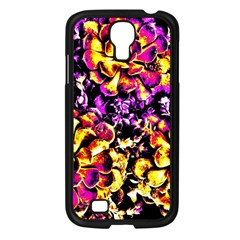 Purple Yellow Flower Plant Samsung Galaxy S4 I9500/ I9505 Case (black) by Costasonlineshop