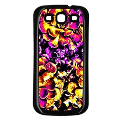 Purple Yellow Flower Plant Samsung Galaxy S3 Back Case (black) by Costasonlineshop