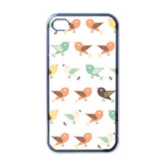 Assorted Birds Pattern Apple Iphone 4 Case (black) by linceazul