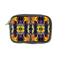 Mystic Yellow Blue Ornament Pattern Coin Purse by Costasonlineshop