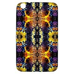 Mystic Yellow Blue Ornament Pattern Samsung Galaxy Tab 3 (8 ) T3100 Hardshell Case  by Costasonlineshop