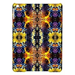 Mystic Yellow Blue Ornament Pattern Ipad Air Hardshell Cases by Costasonlineshop
