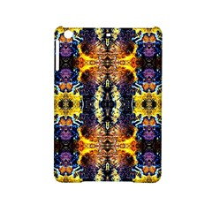 Mystic Yellow Blue Ornament Pattern Ipad Mini 2 Hardshell Cases by Costasonlineshop