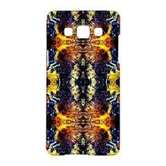 Mystic Yellow Blue Ornament Pattern Samsung Galaxy A5 Hardshell Case  by Costasonlineshop