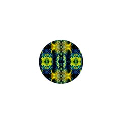 Mystic Yellow Green Ornament Pattern 1  Mini Buttons by Costasonlineshop