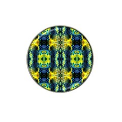 Mystic Yellow Green Ornament Pattern Hat Clip Ball Marker (4 Pack) by Costasonlineshop