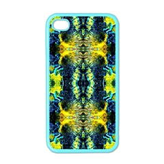 Mystic Yellow Green Ornament Pattern Apple Iphone 4 Case (color) by Costasonlineshop