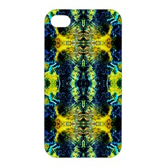 Mystic Yellow Green Ornament Pattern Apple Iphone 4/4s Hardshell Case by Costasonlineshop