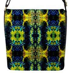 Mystic Yellow Green Ornament Pattern Flap Messenger Bag (s) by Costasonlineshop
