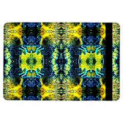 Mystic Yellow Green Ornament Pattern Ipad Air Flip by Costasonlineshop
