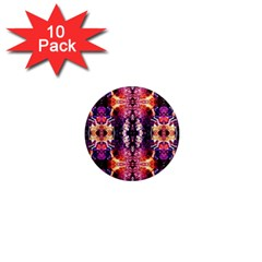 Mystic Red Blue Ornament Pattern 1  Mini Magnet (10 Pack)  by Costasonlineshop