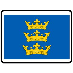 Banner Of Lordship Of Ireland (1177 1542) Double Sided Fleece Blanket (large)  by abbeyz71