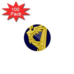 Royal Standard Of Ireland (1542 1801) 1  Mini Buttons (100 Pack)  by abbeyz71