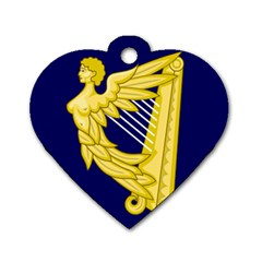 Royal Standard Of Ireland (1542 1801) Dog Tag Heart (one Side) by abbeyz71