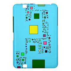 Squares on a blue background      Samsung Galaxy Premier I9260 Hardshell Case by LalyLauraFLM