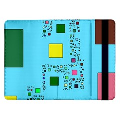 Squares On A Blue Background      Samsung Galaxy Tab Pro 10 1  Flip Case by LalyLauraFLM