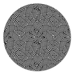 Modern Intricate Optical Magnet 5  (round) by dflcprints