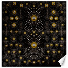 Lace Of Pearls In The Earth Galaxy Pop Art Canvas 16  X 16   by pepitasart