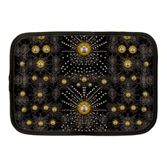 Lace Of Pearls In The Earth Galaxy Pop Art Netbook Case (medium)  by pepitasart