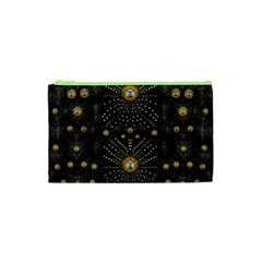 Lace Of Pearls In The Earth Galaxy Pop Art Cosmetic Bag (xs) by pepitasart