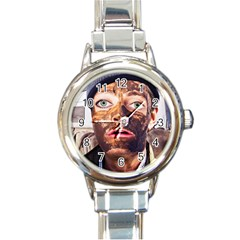 Shitfaced Round Italian Charm Watch by RakeClag