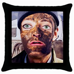 Shitfaced Throw Pillow Case (black) by RakeClag