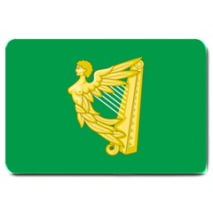 The Green Harp Flag Of Ireland (1642 1916) Large Doormat  by abbeyz71