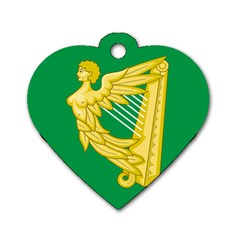 The Green Harp Flag Of Ireland (1642 1916) Dog Tag Heart (one Side) by abbeyz71