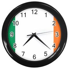 Flag Of Ireland  Wall Clocks (black) by abbeyz71