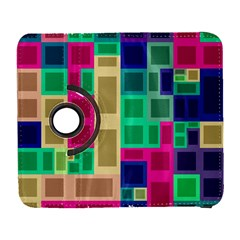 Rectangles And Squares        Samsung Galaxy Note Ii Flip 360 Case by LalyLauraFLM