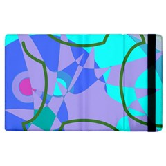 Purple Blue Shapes        Kindle Fire (1st Gen) Flip Case by LalyLauraFLM