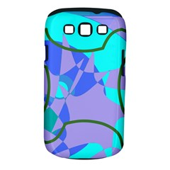 Purple blue shapes        Samsung Galaxy S II i9100 Hardshell Case (PC+Silicone) by LalyLauraFLM