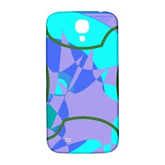 Purple blue shapes        Samsung Note 2 N7100 Hardshell Back Case by LalyLauraFLM