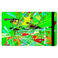 Colorful Painting On A Green Background        Kindle Fire (1st Gen) Flip Case by LalyLauraFLM