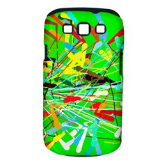 Colorful painting on a green background        Samsung Galaxy S II i9100 Hardshell Case (PC+Silicone) by LalyLauraFLM