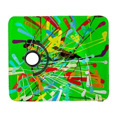 Colorful Painting On A Green Background        Samsung Galaxy Note Ii Flip 360 Case by LalyLauraFLM