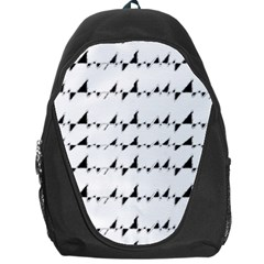 Black And White Wavy Stripes Pattern Backpack Bag by dflcprints