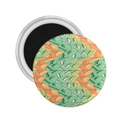 Emerald And Salmon Pattern 2 25  Magnets by linceazul