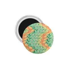 Emerald And Salmon Pattern 1 75  Magnets by linceazul