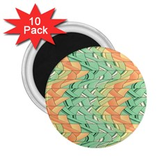 Emerald And Salmon Pattern 2 25  Magnets (10 Pack)  by linceazul