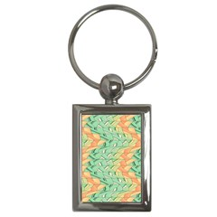 Emerald And Salmon Pattern Key Chains (rectangle)  by linceazul
