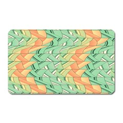 Emerald And Salmon Pattern Magnet (rectangular) by linceazul