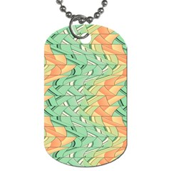 Emerald And Salmon Pattern Dog Tag (one Side) by linceazul