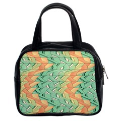 Emerald And Salmon Pattern Classic Handbags (2 Sides) by linceazul