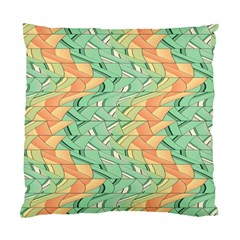 Emerald And Salmon Pattern Standard Cushion Case (one Side) by linceazul