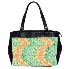 Emerald And Salmon Pattern Office Handbags (2 Sides)  by linceazul